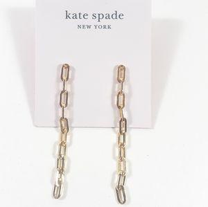Kate Spade Gold Chain Dangle Earrings NWT